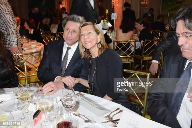 Patrick de Carolis and CarolAnne Hartpence attend 'La Recherche en Physiologie' Charity Gala at Four Seasons Hotel George V on March 13 2017 in Paris...