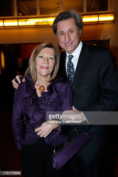 Patrick de Carolis and his wife CarolAnn attend the Fondation Prince Albert II De Monaco Evening at Salle Gaveau on February 21 2019 in Paris France