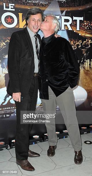Patrick de Carolis and Yann ArthusBertrand attend the premiere of ''Le Concert'' at the Theatre du Chatelet on October 23 2009 in Paris France