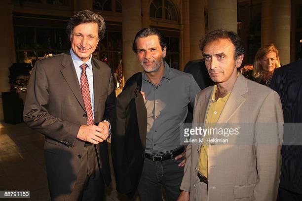 Patrick de Carolis Christophe Barratier and Eric Zemmour attend the 25th edition of 'La fete du cinema' at Ministere de la Culture on June 30 2009 in...