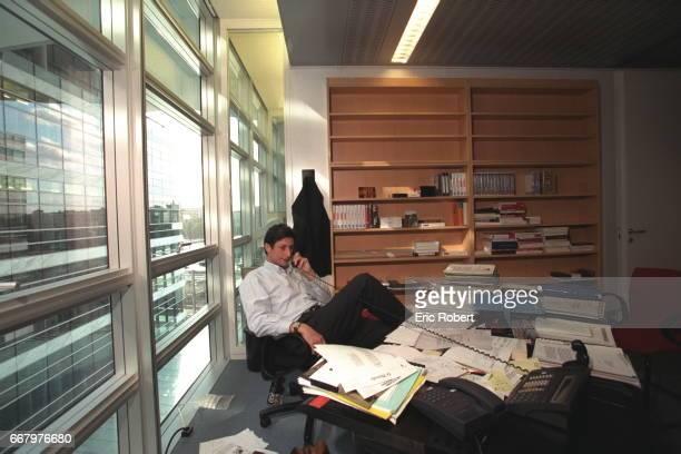 THE JOURNLIST PATRICK DE CAROLIS Patrick de Carolis in his office at the new headquarters of France Television