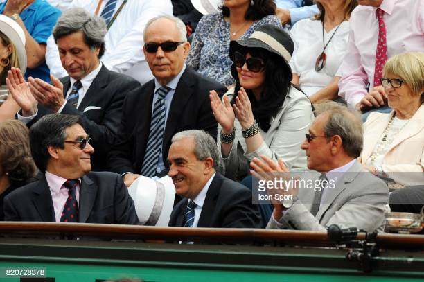 Patrick DE CAROLIS / Isabelle ADJANI / Francois FILLON / Jean GACHASSIN / Bertrand DELANOE Finale Simple Messieurs Roland Garros 2010