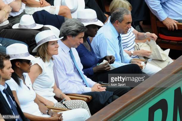 Patrick DE CAROLIS / Rama YADE / Jean GACHASSIN Finale Dames Roland Garros 2010
