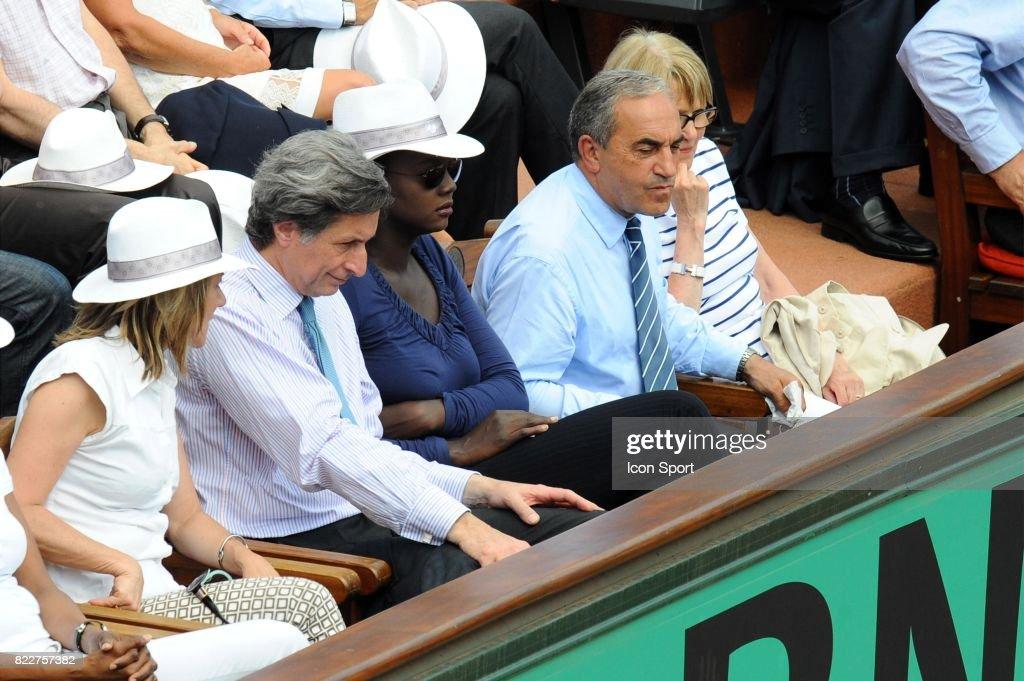 Patrick DE CAROLIS / Rama YADE / Jean GACHASSIN - - Finale Dames - Roland Garros 2010 -