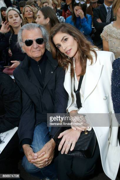 Patrick Demarchelier and Cindy Crawford attend the Chanel show as part of the Paris Fashion Week Womenswear Spring/Summer 2018 on October 3 2017 in...