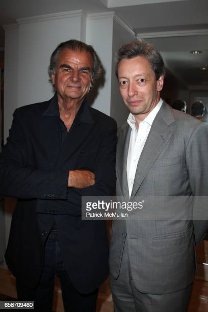 Patrick Demarchelier and Frederic Malle attend PATRICK and VICTOR DEMARCHELIER Host a Fete to Launch FREDERIC MALLE'S New Fragrance GERANIUM POUR...