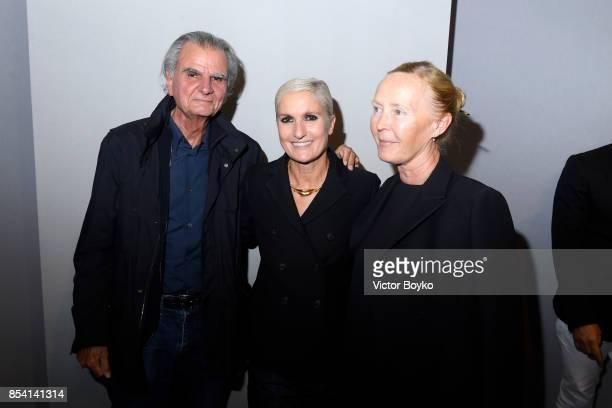 Patrick Demarchelier, Designer Maria Grazia Chiuri and Bettina Rheims attend the Christian Dior show as part of the Paris Fashion Week Womenswear...