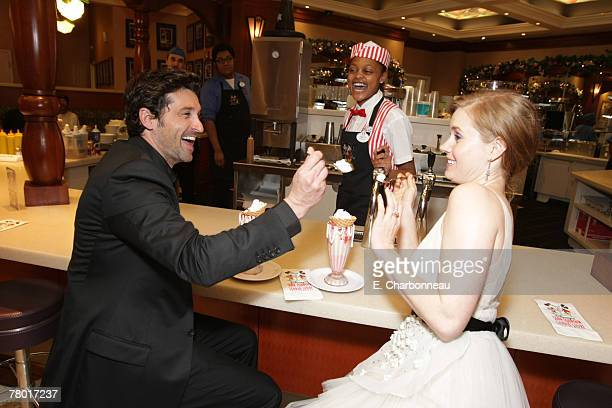 HOLLYWOOD CALIFORNIA NOVEMBER 17 Patrick Dempsey and Amy Adams at the World Premiere of Walt Disney Pictures' ENCHANTED at the El Capitan Theatre on...