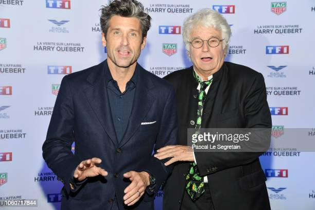 """Patrick Dempsey and director Jean-Jacques Annaud attend """"The Truth About The Harry Quebert Affair"""" Premiere at Cinema Gaumont Marignan on November..."""