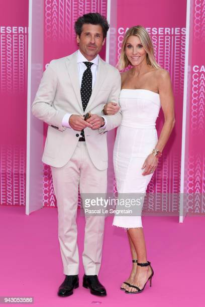 "Patrick Dempsey and his wife Jillian Fink attend the Launch of the Official Competition and ""The Truth About The Harry Quebert Affair"" screening..."