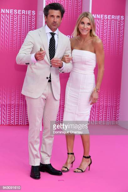 Patrick Dempsey and his wife Jillian Fink attend the Launch of the Official Competition and The Truth About The Harry Quebert Affair screening during...