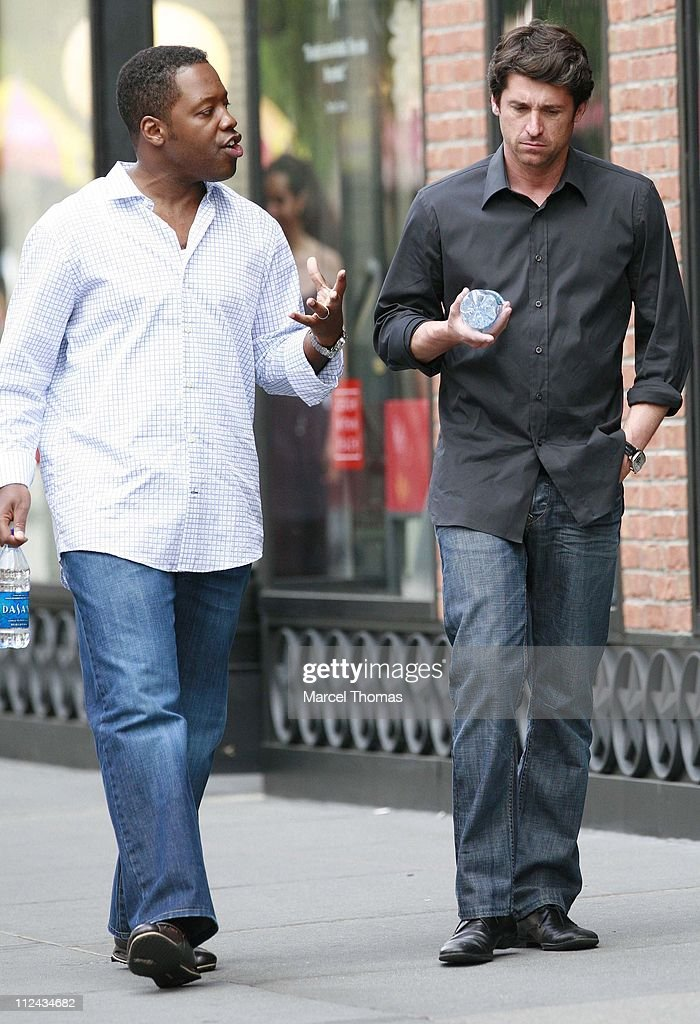 """Patrick Dempsey and  Kadeem Hardison On Location Filming """"Made of Honor"""" - June"""