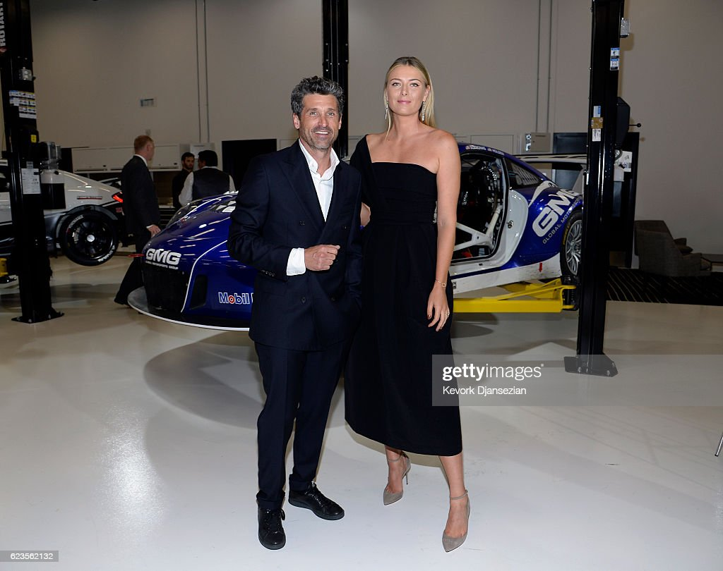 Patrick Dempsey And Maria Sharapova Attend The Opening Of The