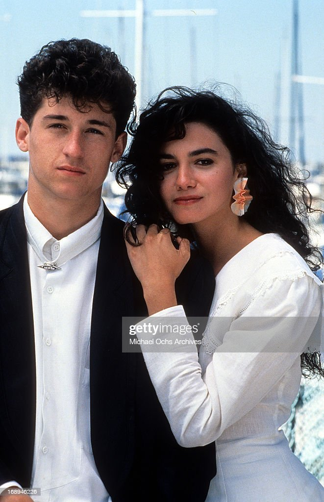 Patrick Dempsey And Nancy Valen On Set Of The Film Loverboy 1989