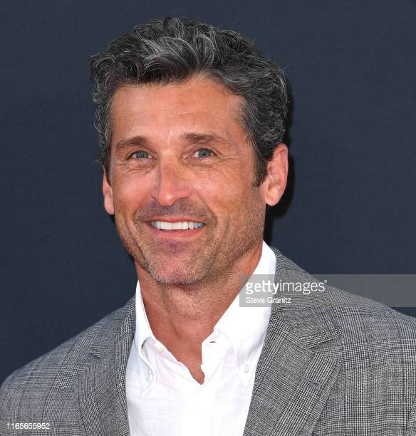 "Patrick Dempsey arrives at the Premiere Of 20th Century Fox's ""The Art Of Racing In The Rain"" at El Capitan Theatre on August 01, 2019 in Los..."