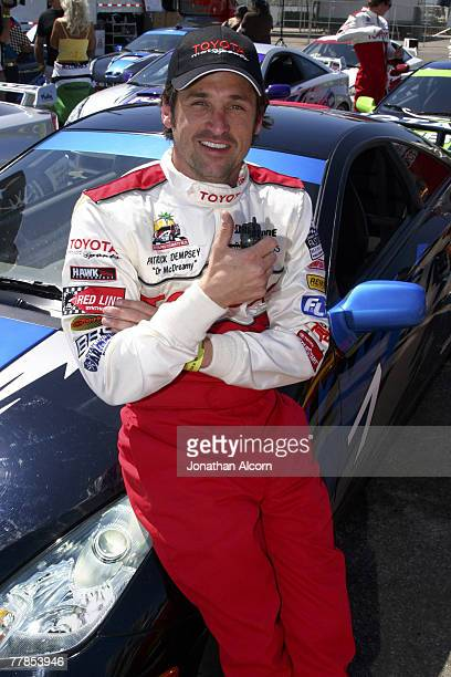 Patrick Dempsey at practice preparing for the upcoming 2005 Toyota Pro/Celebrity Race at the Toyota Grand Prix of Long Beach California on March 29...