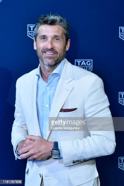 Patrick Dempsey attends a TAG Heuer celebration of 50 years of the iconic Monaco Timepiece with brand ambassador Patrick Dempsey on July 10, 2019 in...