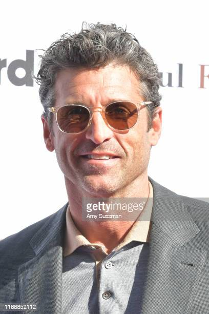Patrick Dempsey attends American Cancer Society's California Spirit 34 Food and Wine Benefit at Sony Pictures Studios on August 18, 2019 in Culver...