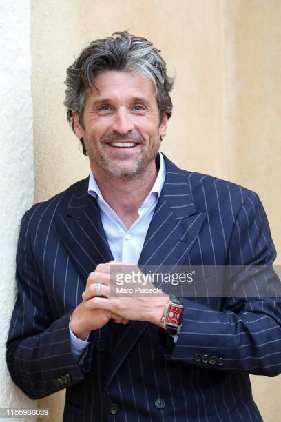 Patrick Dempsey attends Tag Heuer New Monaco Limited Edition Unveiling Exclusive Event at Domaine de la Groirie on June 14, 2019 in Le Mans, France.