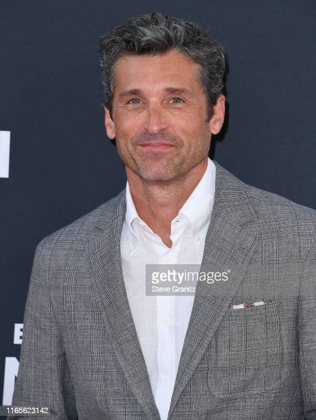 "Patrick Dempsey attends the Premiere Of 20th Century Fox's ""The Art Of Racing In The Rain"" at El Capitan Theatre on August 01, 2019 in Los Angeles,..."