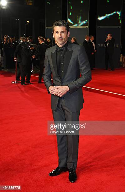 Patrick Dempsey attends the Royal World Premiere of 'Spectre' at Royal Albert Hall on October 26 2015 in London England