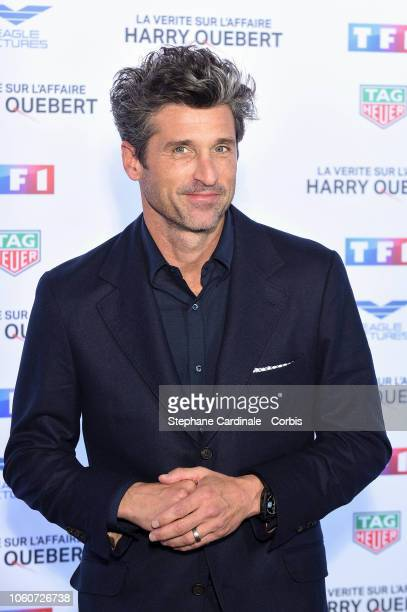 Patrick Dempsey attends 'The Truth About The Harry Quebert Affair' Premiere at Cinema Gaumont Marignan on November 12, 2018 in Paris, France.