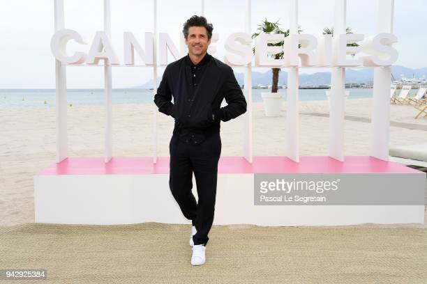"Patrick Dempsey attends ""The Truth About the Harry Quebert Affair"" Photocall during the 1st Cannes International Series Festival on April 7, 2018 in..."