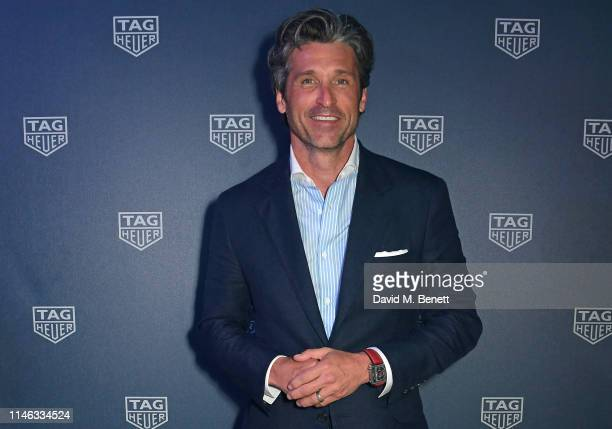 Patrick Dempsey celebrates 50 years of the Monaco watch at the TAG Heuer Yacht Party on May 25, 2019 in Monaco.