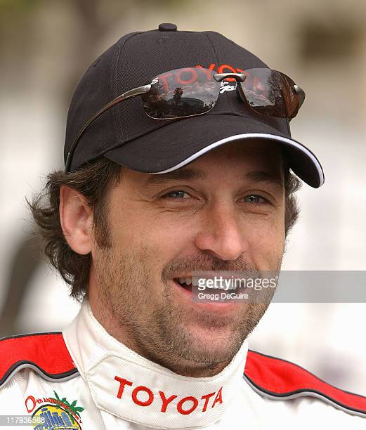 Patrick Dempsey during 30th Anniversary Toyota Pro/Celebrity Race Qualifying Day at Long Beach Streets in Long Beach California United States