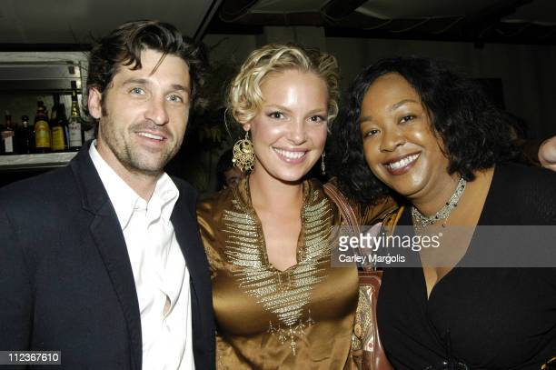 Patrick Dempsey Katherine Heigl and Shonda Rhimes of Grey's Anatomy