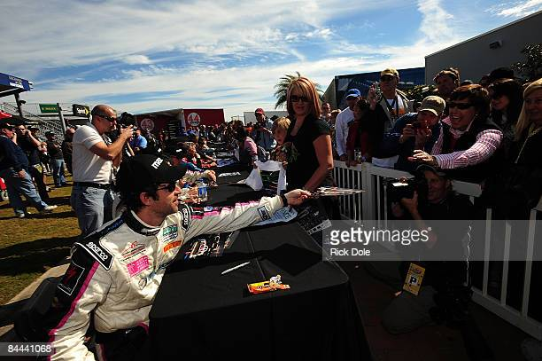 Patrick Dempsey meets fans during the autograph session prior to the Rolex 24 at Daytona January 24 2009 in Daytona Beach Florida