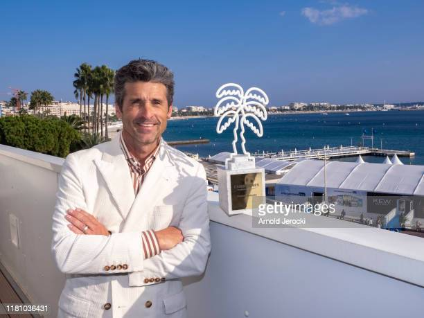 Patrick Dempsey receives the Canneseries 2019 excellence award during day one of the MIPCOM 2019 on October 14, 2019 in Cannes, France.