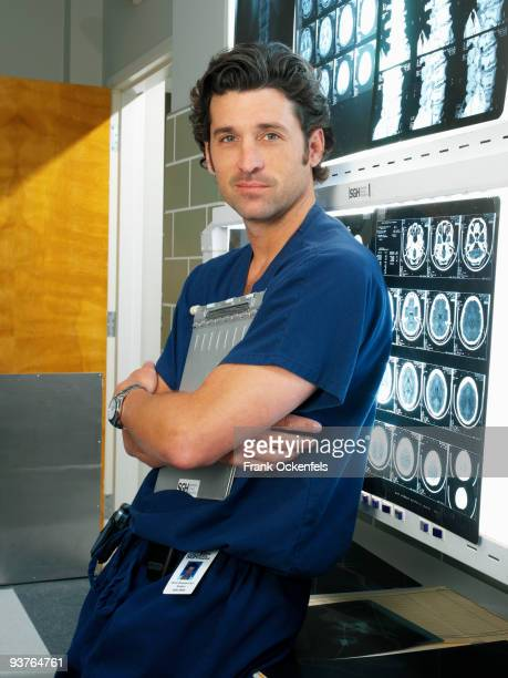 "Patrick Dempsey stars as ""Dr. Derek Shepherd"" on ""Grey's Anatomy"" on the Walt Disney Television via Getty Images Television Network."