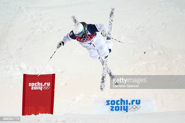 Patrick Deneen of the United States competes in the Men's Moguls Finals on day three of the Sochi 2014 Winter Olympics at Rosa Khutor Extreme Park on...