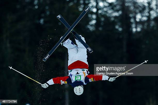 Patrick Deneen of the USA competes during the FIS Freestyle Ski World Championships Men's and Women's Moguls on January 18 2015 in Kreischberg Austria