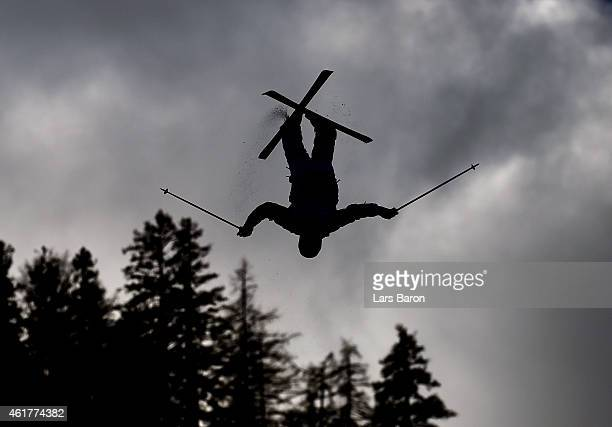 Patrick Deneen of USA practices prior to the Men's Dual Moguls Final of the FIS Freestyle Ski and Snowboard World Championship 2015 on January 19...