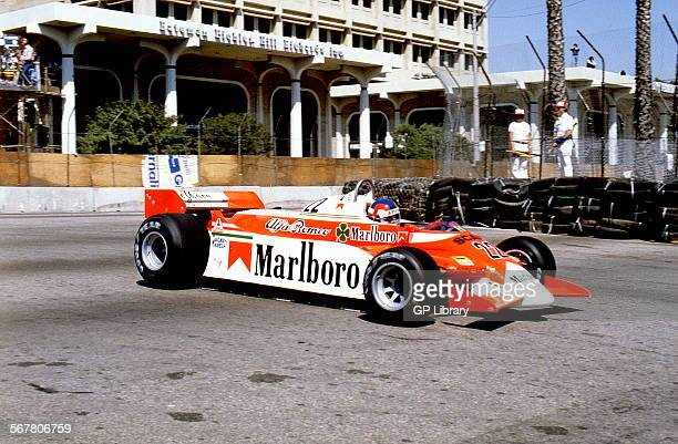 Patrick Depailler in Alfa Romeo 179C retired from the US GP Long Beach USA 30 March 1980