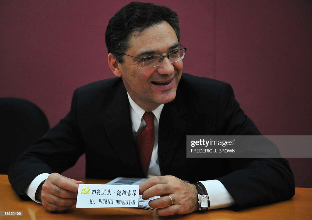 Patrick Devedjian, secretary general of : News Photo