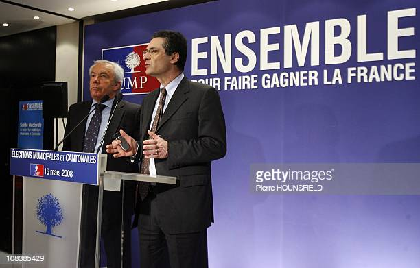 Patrick Devedjian UMP General Secretary in Paris France on March 16th 2008