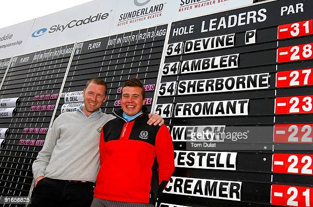 Patrick Devine of Royal Dublin and Stuart Taylor of Island pose for photos after winning the SkyCaddie PGA Fourball Championship at Forest Pines Golf...
