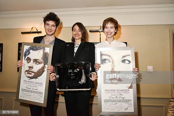 Patrick Dewaere 2016 awarded actors Vincent Lacoste Marie Gillain and Lou de Laage attend the Romy Schneider Patrick Dewaere Award Ceremony at Hotel...