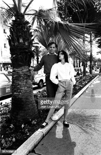 Patrick Dewaere and Arielle Besse Cannes Film Festival for the film ' Beaupère ' by Bertrand Blier 1981
