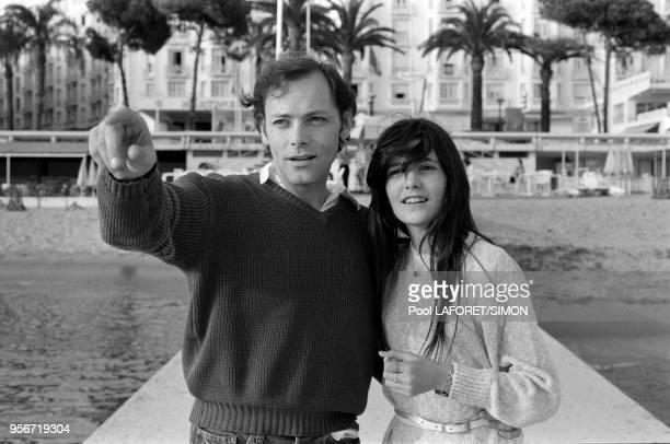Patrick Dewaere et Ariel Besse lors du Festival de Cannes en mai 1981 France