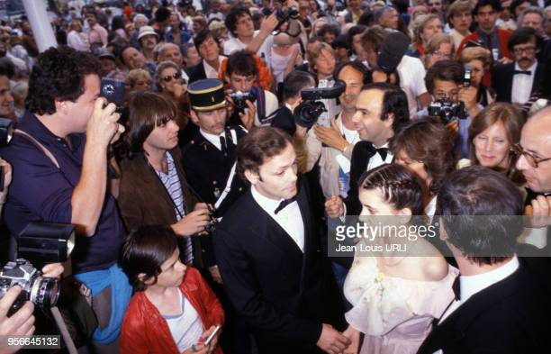 Patrick Dewaere et Ariel Besse pour le film 'Beau Père' lors du Festival de Cannes en mai 1981 France