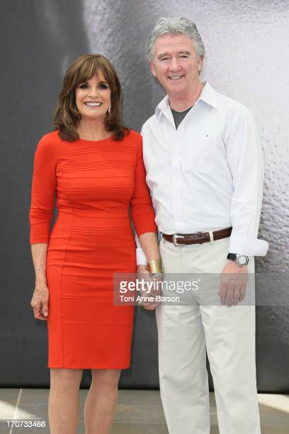 Patrick Duffy and Linda Gray pose at a photocall during the 53rd Monte Carlo TV Festival on June 12 2013 in MonteCarlo Monaco