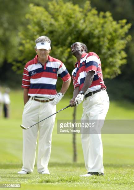 Patrick Duffy and Michael Johnston during The Northern Rock All Star Charity Gala Golf Tournament Day 1 at Celtic Manor Resort in Newport Great...