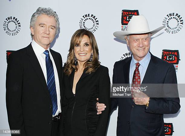 Patrick Duffy Linda Gray and Larry Hagman arrive at the Paley Center's opening of Television Out Of The Box held at The Paley Center for Media on...