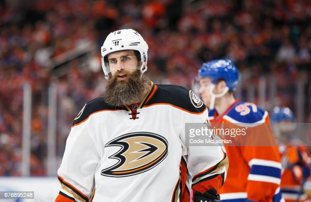 Patrick Eaves of the Anaheim Ducks skates against the Edmonton Oilers in Game Three of the Western Conference Second Round during the 2017 NHL...