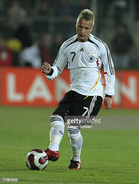 Patrick Ebert of Germany controls the ball during the U21 Euro 2009 qualifier between Germany and Moldavia at the Husterhoehe stadium on October 16,...