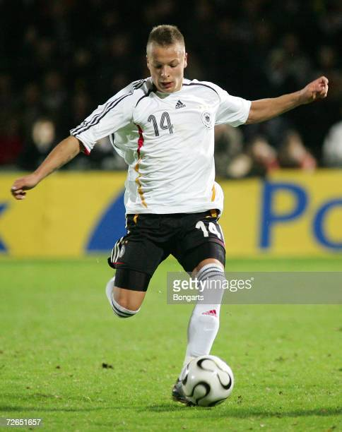 Patrick Ebert of Germany in action during the Men's U20 international friendly match between Germany and Austria at the Guenther-Volker Stadium on...